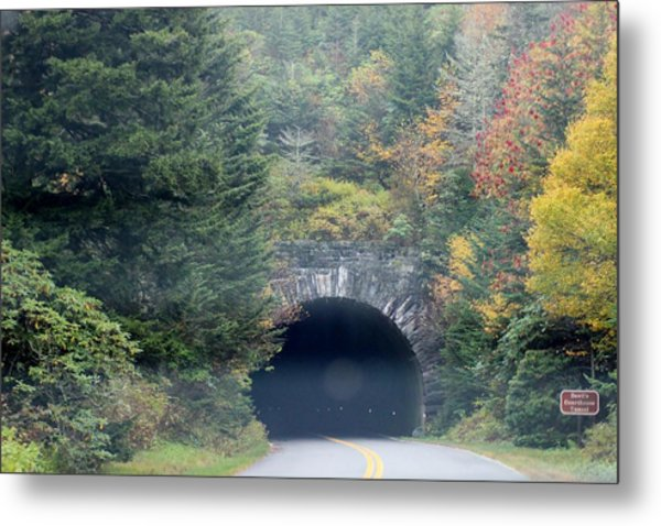 Tunnel On Parkway Metal Print by Melony McAuley