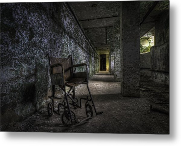 Tunnel Seating Metal Print