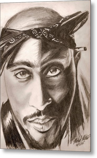 Tupac Metal Print by Michael Mestas