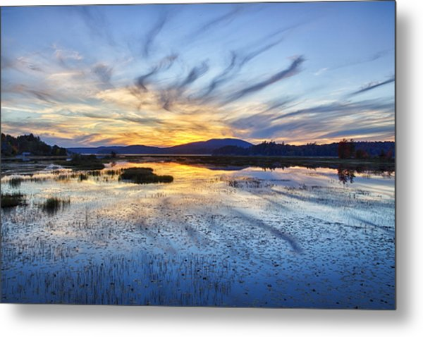 Tupper Lake Sunset Hdr 01 Metal Print