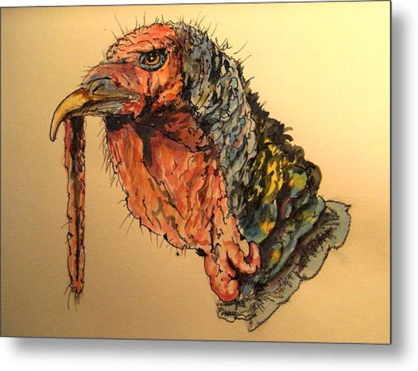 Turkey Head Bird Metal Print