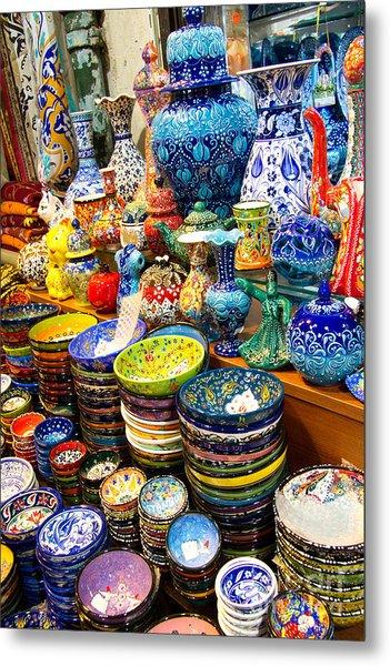 Turkish Ceramic Pottery 1 Metal Print