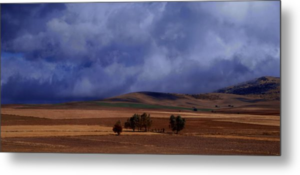 Turkish Landscape From Antalya To Konya  Metal Print by Jacqueline M Lewis