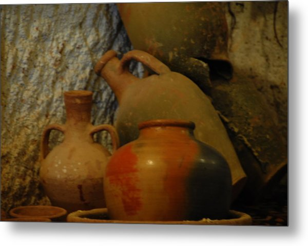 Turkish Pottery Metal Print by Jacqueline M Lewis
