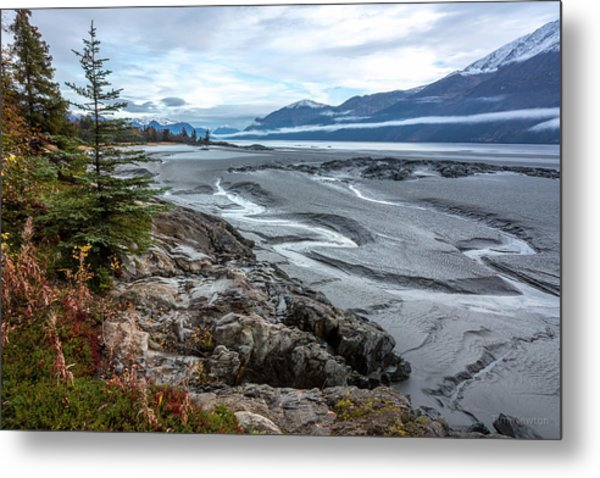 Metal Print featuring the photograph Turnagain Tide Flats by Tim Newton