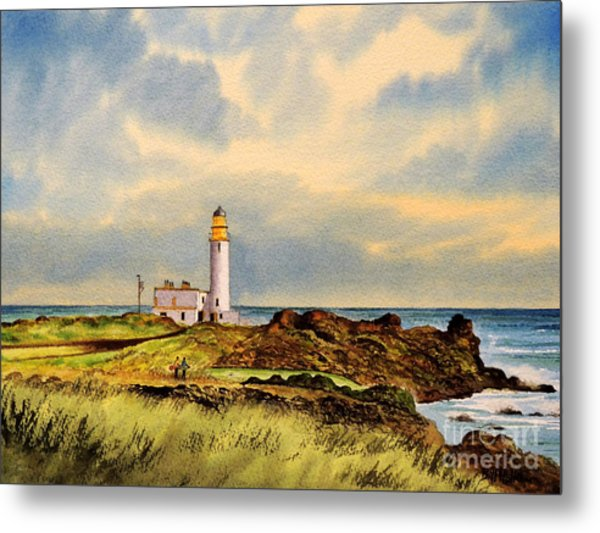Turnberry Golf Course 9th Tee Metal Print