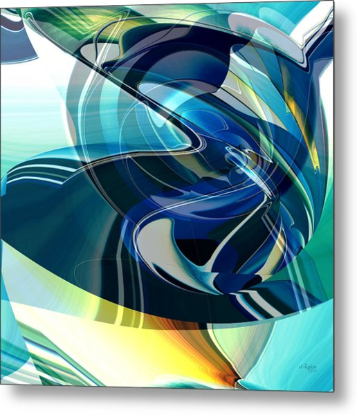 Metal Print featuring the digital art Turning Point by rd Erickson