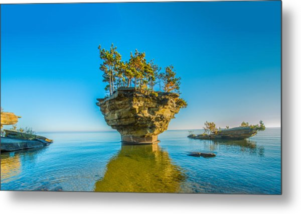 Turnip Rock Metal Print