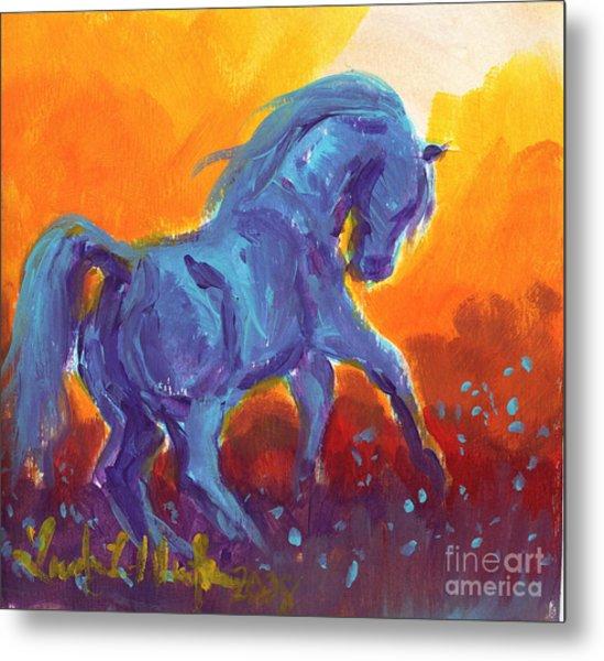 Turquois Stallion Metal Print