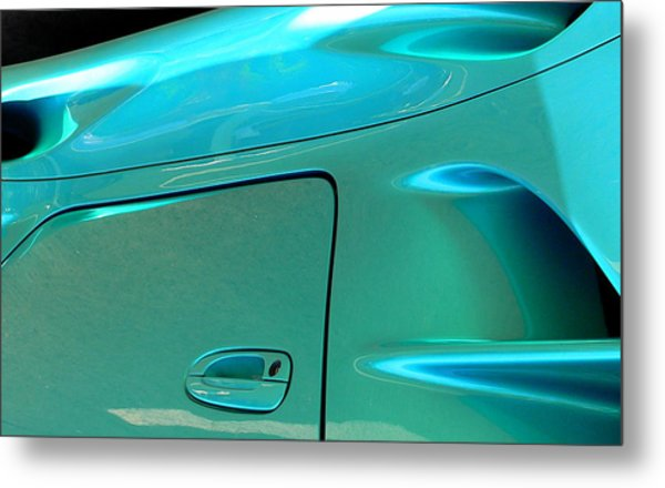 Metal Print featuring the photograph Turquoise Exotic Art Lines by Jeff Lowe