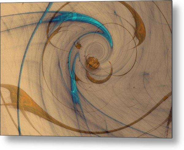 Turquoise Spiral Metal Print