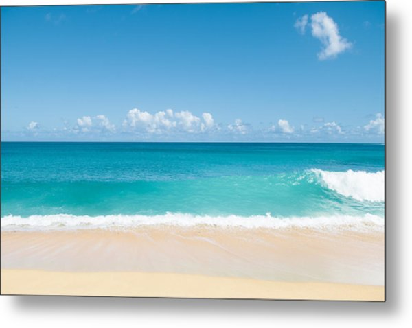 Turquoise Wave Metal Print
