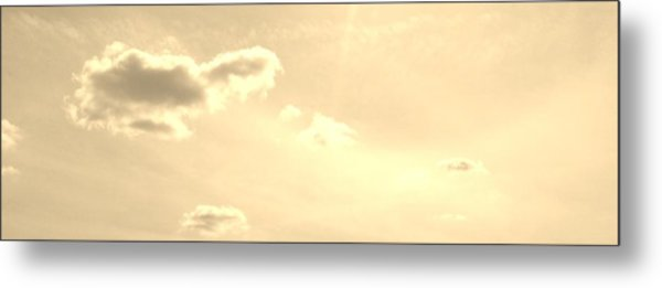 Turtle Cloud Bliss Metal Print