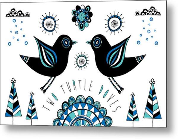 Turtle Dove Metal Print