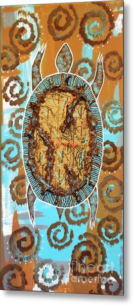 Turtle Journey Metal Print