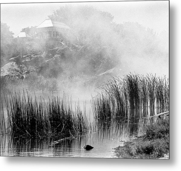 Metal Print featuring the photograph Turtle Pond Fog by Dave Beckerman