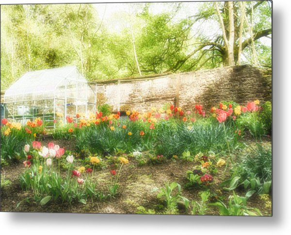 Turton Tower Garden Metal Print by Chris McPhee