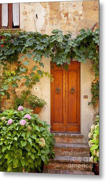 Tuscan Door Metal Print