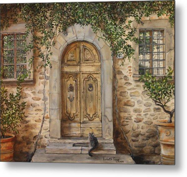 Tuscan Door Metal Print by Lizbeth Gage & Tuscan Door Painting by Lizbeth Gage