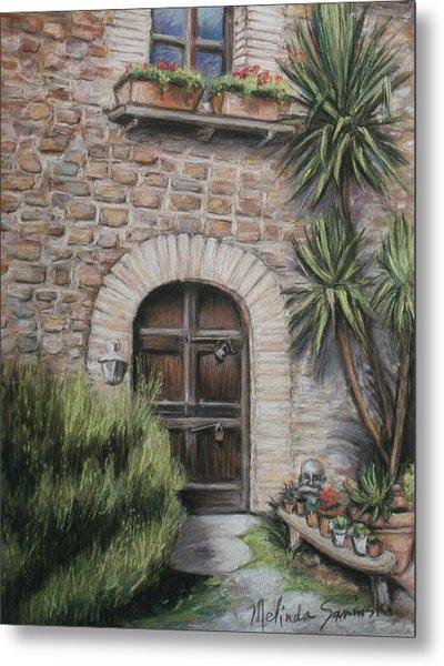 Tuscan Doorway La Parrina Metal Print