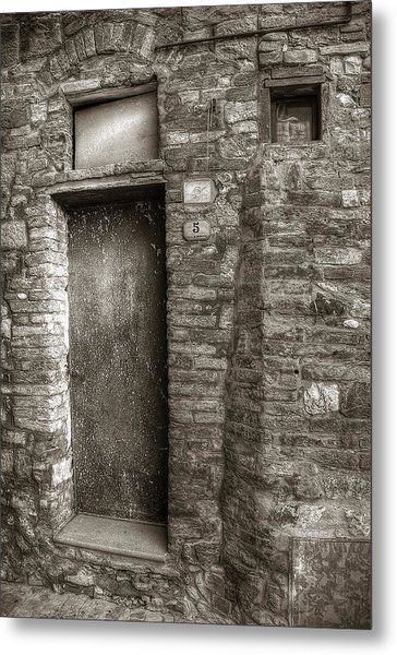 Tuscan Doorway Metal Print