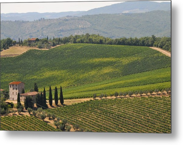 Metal Print featuring the photograph Tuscan Hillside by Susie Rieple