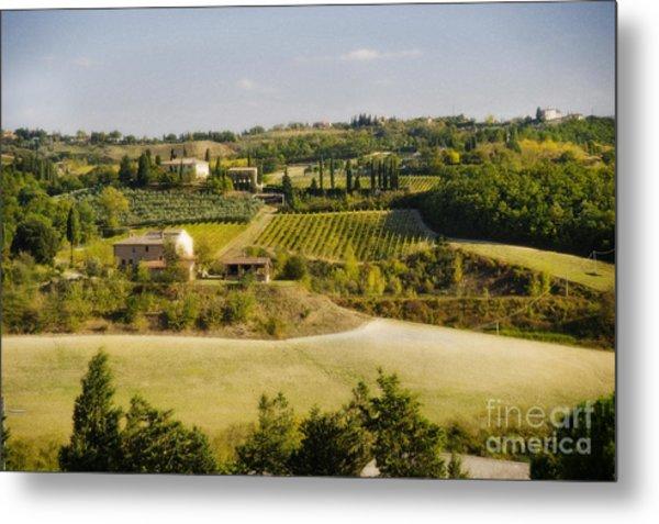 Tuscan Landscape Metal Print by Jim  Calarese