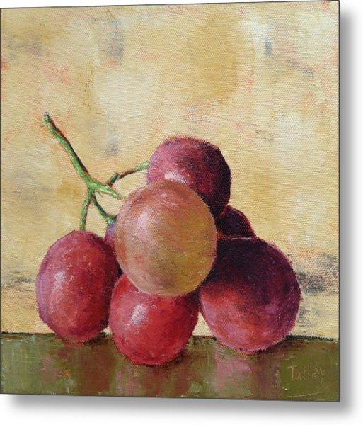 Tuscan Red Globe Grapes Metal Print