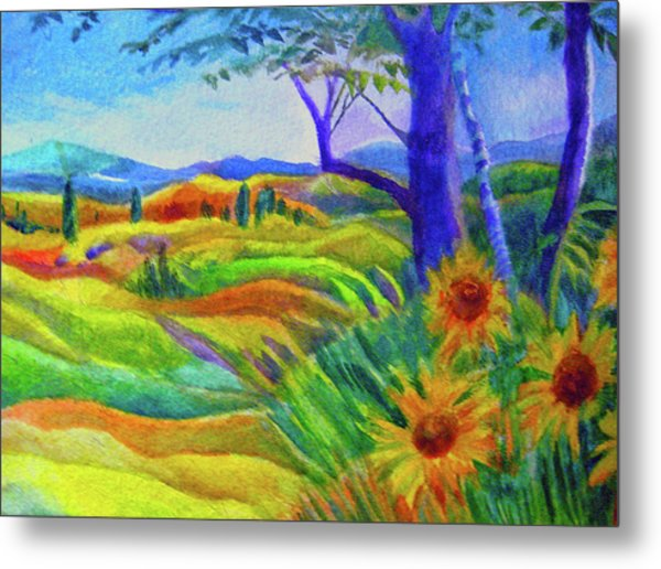 Tuscan Sunflowers Metal Print