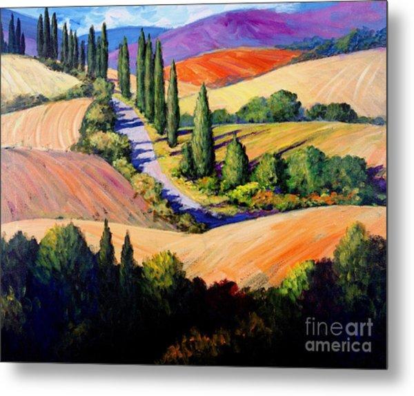 Tuscan Trail Metal Print
