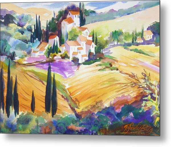 Tuscan Villas And Fields Metal Print by Therese Fowler-Bailey