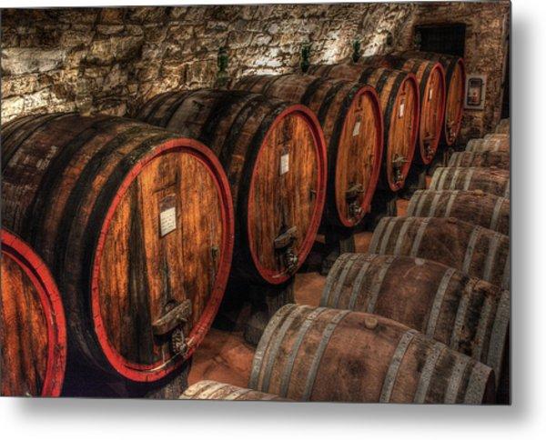 Tuscan Wine Cellar Metal Print