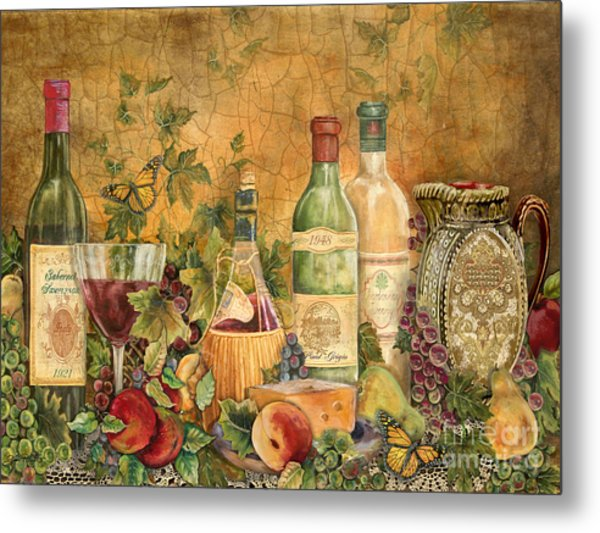 Tuscan Wine Treasures Metal Print