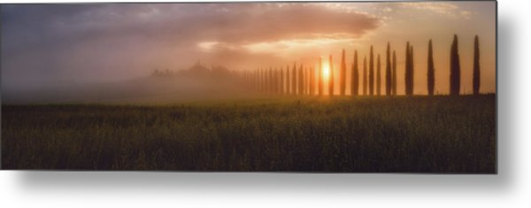 Tuscany Sunrising Metal Print by Javier De La