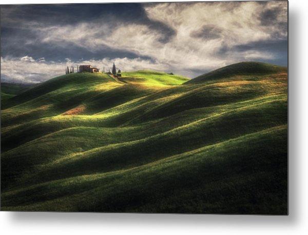 Tuscany Sweet Hills. Metal Print