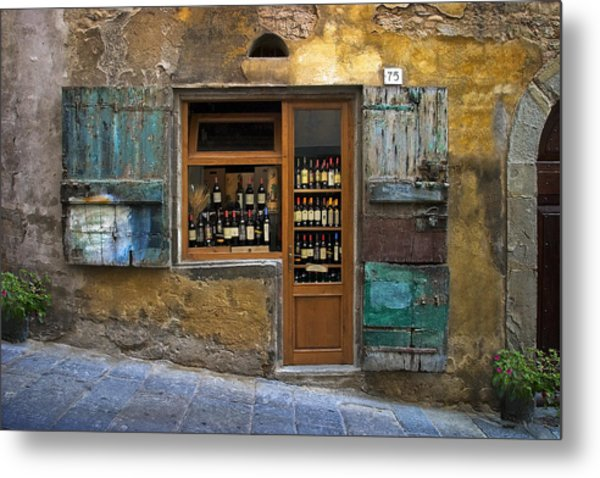 Tuscany Wine Shop Metal Print