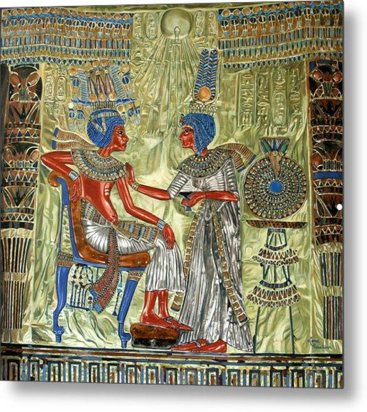 Tutankhamon's Throne Metal Print