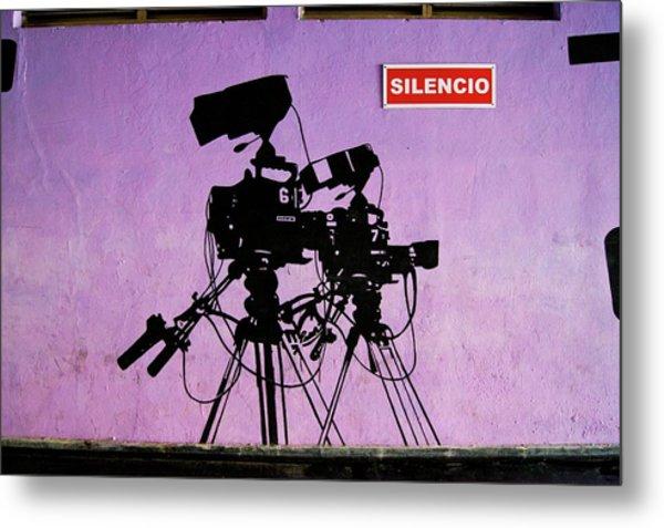 Tv Studio Cameras. Metal Print