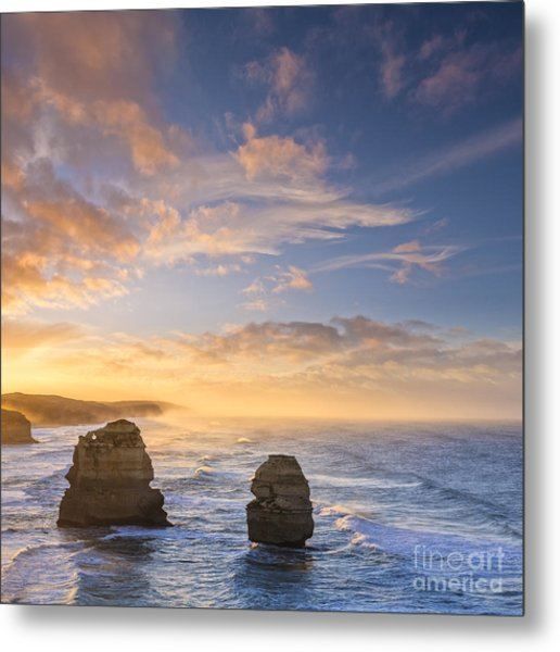 Twelve Apostles Sunrise Great Ocean Road Victoria Australia Metal Print