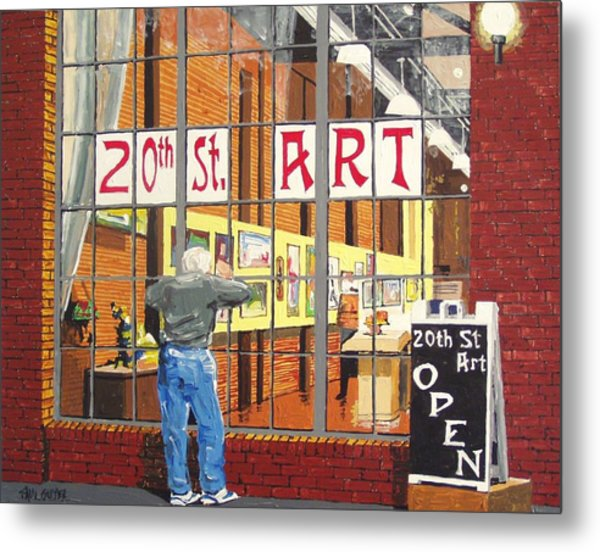 Twentieth Street Gallery Metal Print by Paul Guyer