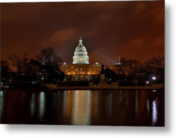 Twilight At The Capitol Metal Print