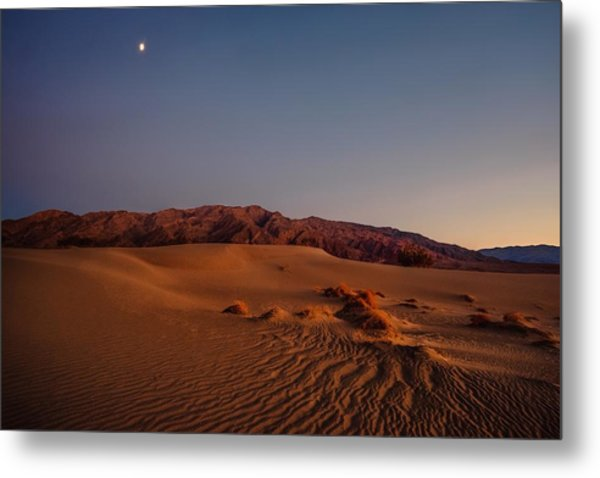Twilight At The Dunes  Metal Print