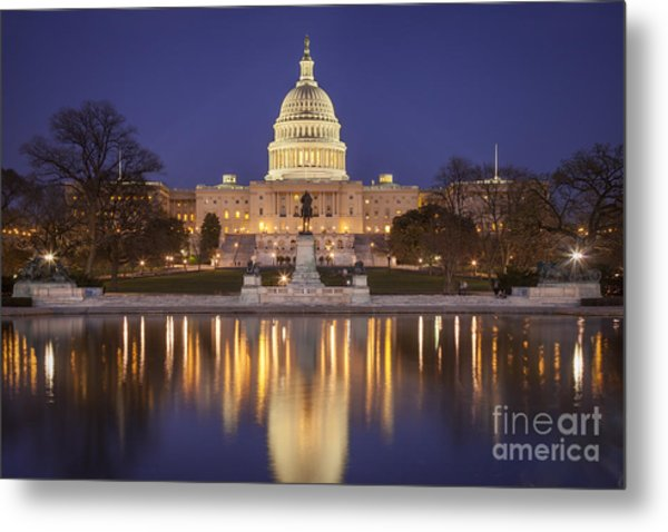 Metal Print featuring the photograph Twilight At Us Capitol by Brian Jannsen