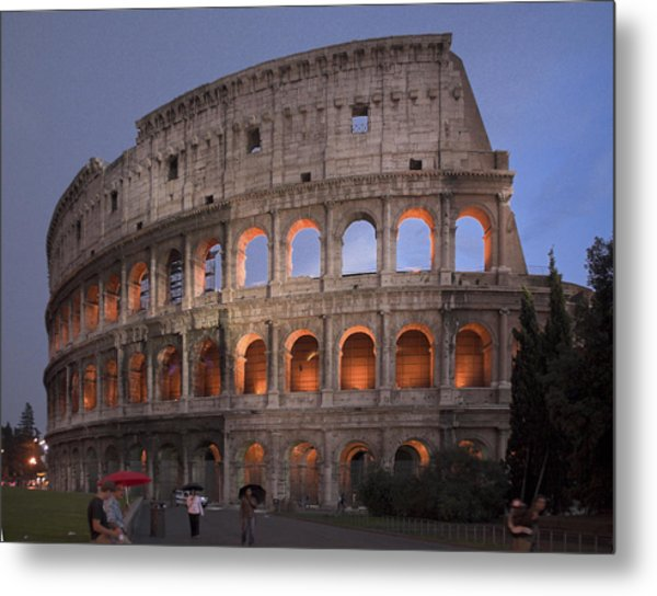 Twilight Colosseum Rome Italy Metal Print
