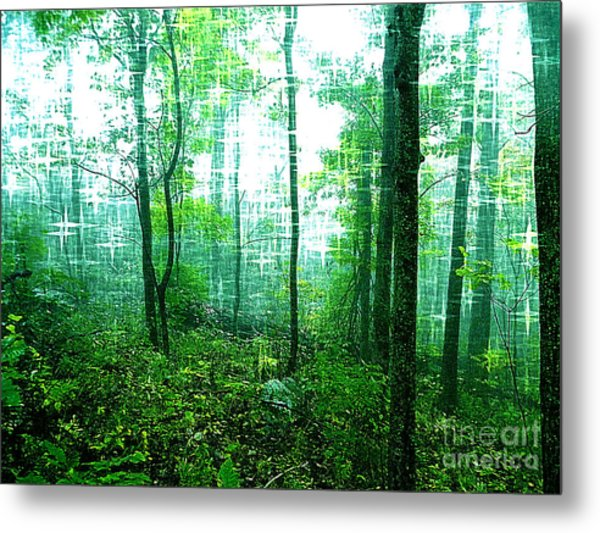 Twilight Forest Metal Print by Lorraine Heath
