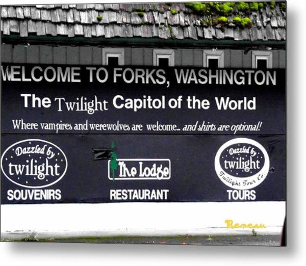 Twilight In Forks Wa 5 Metal Print