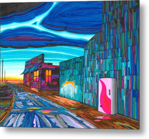 Twilight On The Central Plains Metal Print