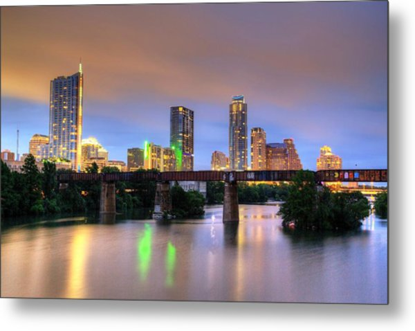Twilight On The Lake Metal Print