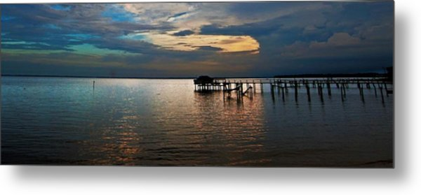 Twilight On The Neuse River Metal Print