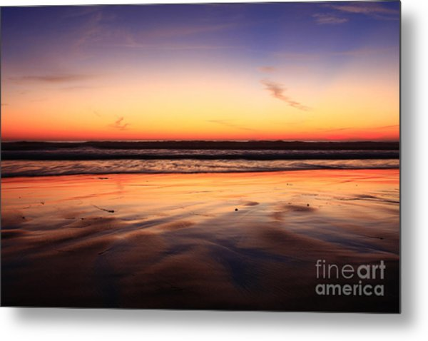 Cardiff By The Sea Glow Metal Print